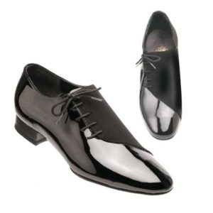men's side lace black patent nubuck flexible split sole standard heel smooth