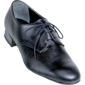 men's 9000 Supadance in black calf skin leather lace up standard heel