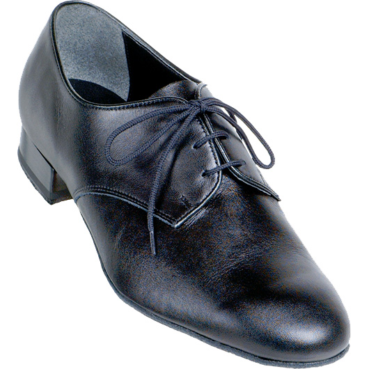 men's 9000 Supadance in black calf skin leather lace up standard heel