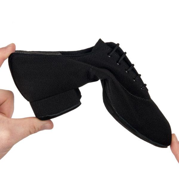 men's contra black split sole flexible international standard heel lace up