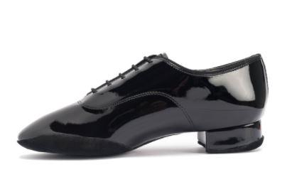 men's contra pro black leather split sole international standard heel lace up lip heel inside suede